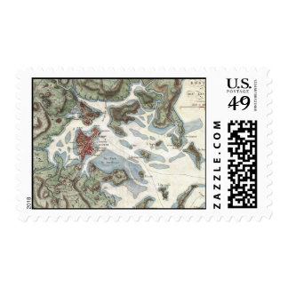 Vintage Map of Boston Harbor 1807 Postage Stamp