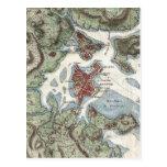 Vintage Map of Boston Harbor (1807) Postcard