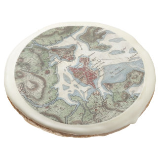 Vintage Map of Boston Harbor (1807) Sugar Cookie