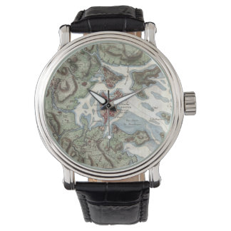 Vintage Map of Boston Harbor (1807) Watch