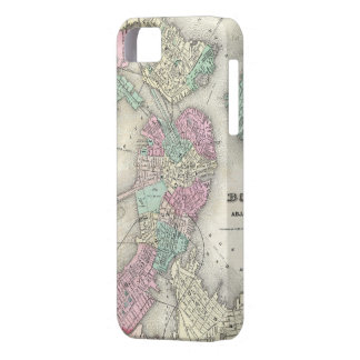 Vintage Map of Boston Harbor (1857) iPhone 5 Cases