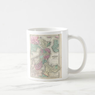 Vintage Map of Boston Harbor (1857) Coffee Mug
