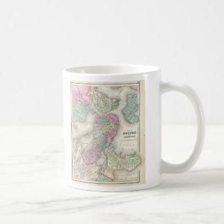Vintage Map of Boston Harbor (1857) Coffee Mug