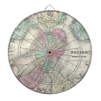 Vintage Map of Boston Harbor (1857) Dartboard