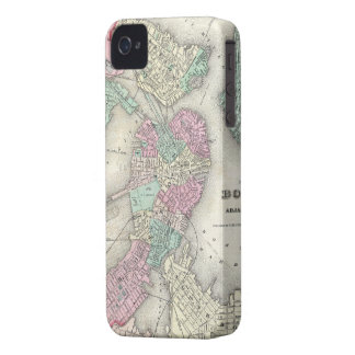 Vintage Map of Boston Harbor (1857) iPhone 4 Cover