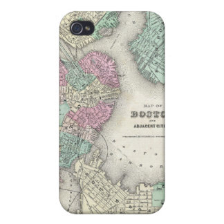 Vintage Map of Boston Harbor (1857) Cover For iPhone 4