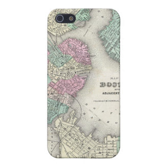 Vintage Map of Boston Harbor (1857) iPhone 5 Cover