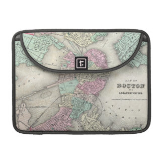 Vintage Map of Boston Harbor (1857) Sleeves For MacBook Pro