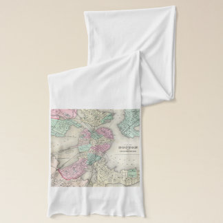 Vintage Map of Boston Harbor (1857) Scarf