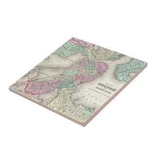 Vintage Map of Boston Harbor (1857) Tile
