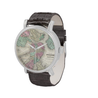 Vintage Map of Boston Harbor (1857) Watches