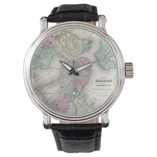 Vintage Map of Boston Harbor (1857) Watch