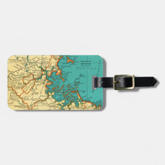 Vintage Map of BOSTON Luggage Tag