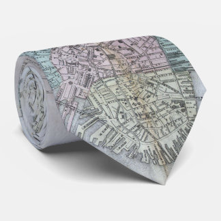 Vintage Map of Boston Massachusetts (1870) Tie