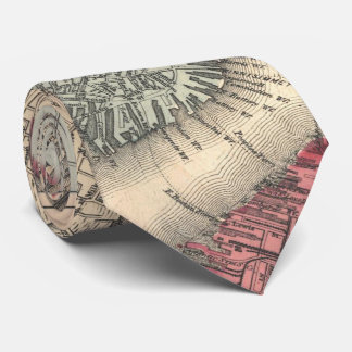 Vintage Map of Boston Massachusetts (1871) Tie