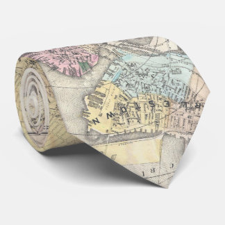 Vintage Map of Boston Massachusetts (1896) Neck Tie
