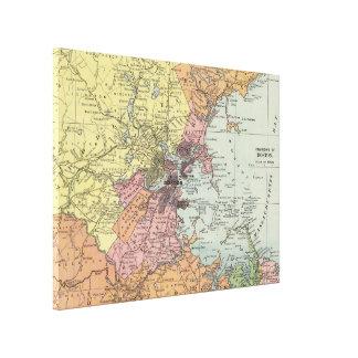 Vintage Map of Boston Massachusetts (1903) Canvas Print