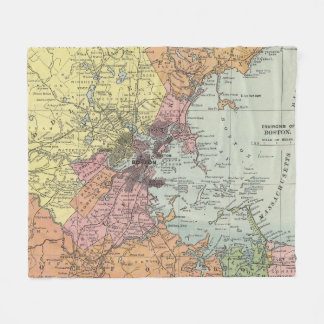 Vintage Map of Boston Massachusetts (1903) Fleece Blanket