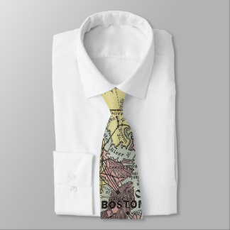 Vintage Map of Boston Massachusetts (1903) Tie