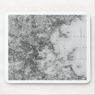 Vintage Map of Boston Mouse Pad