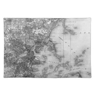 Vintage Map of Boston Placemat