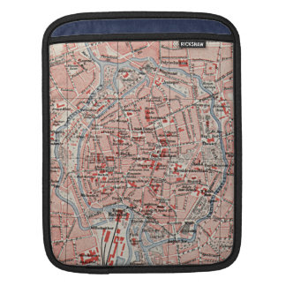 Vintage Map of Braunschweig Germany (1905) Sleeves For iPads