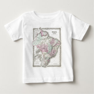 Vintage Map of Brazil (1855) Baby T-Shirt