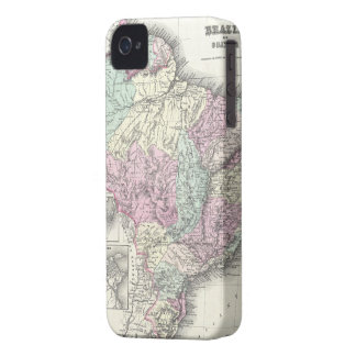 Vintage Map of Brazil (1855) iPhone 4 Case-Mate Case