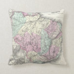 Vintage Map of Brazil (1855) Pillow