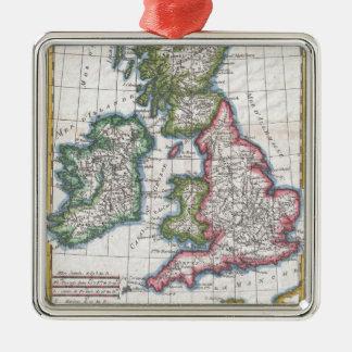 Vintage Map of British Isles (1780) Metal Ornament