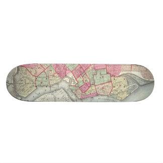 Vintage Map of Brooklyn (1868) Skateboard Deck