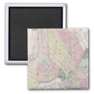 Vintage Map of Brooklyn (1873) 2 Inch Square Magnet