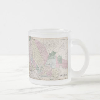 Vintage Map of Brooklyn (1873) 10 Oz Frosted Glass Coffee Mug