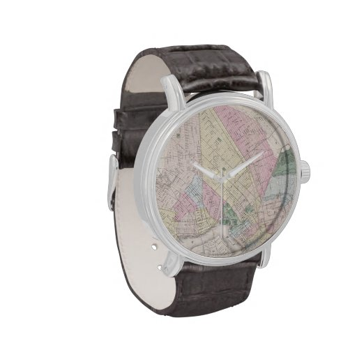Vintage Map of Brooklyn (1873) Wrist Watches