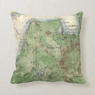 Vintage Map of Brooklyn New York (1867) Throw Pillow
