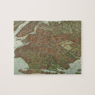Vintage Map of Brooklyn NY (1908) Jigsaw Puzzle