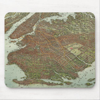 Vintage Map of Brooklyn NY (1908) Mouse Pad