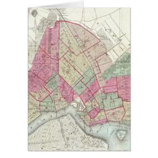 Vintage Map of Brookyln (1868) Card