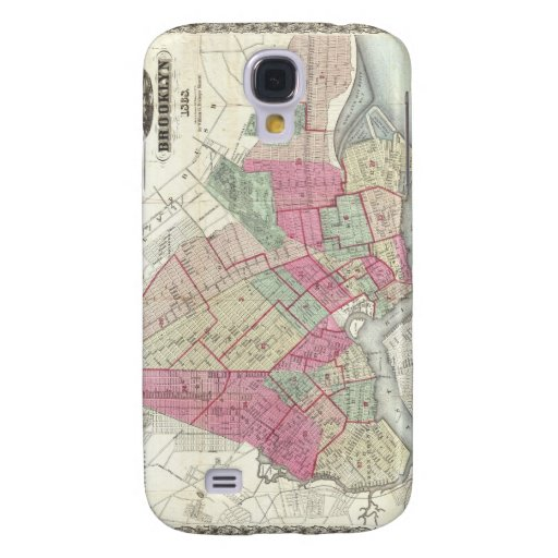 Vintage Map of Brookyln (1868) Samsung Galaxy S4 Covers