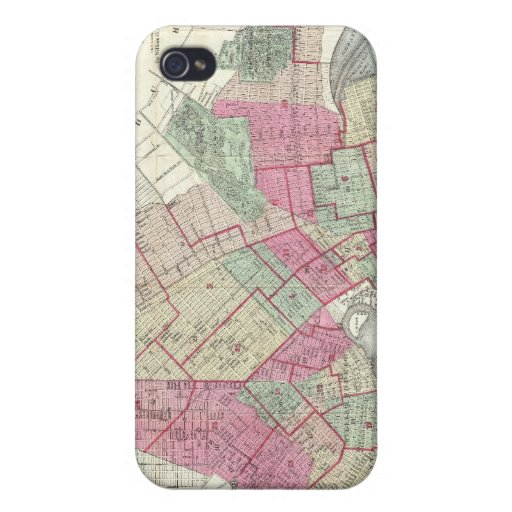 Vintage Map of Brookyln (1868) iPhone 4/4S Cover