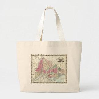 Vintage Map of Brookyln (1868) Large Tote Bag