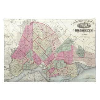 Vintage Map of Brookyln (1868) Placemat