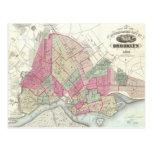 Vintage Map of Brookyln (1868) Post Card