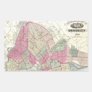 Vintage Map of Brookyln (1868) Sticker