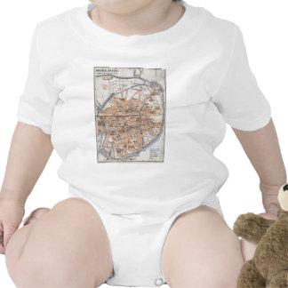 Vintage Map of Bruges (1905) Tshirts