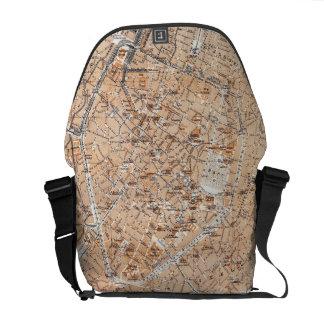 Vintage Map of Brussels 1905 Messenger Bag