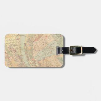 Vintage Map of Budapest Hungary (1884) Luggage Tag