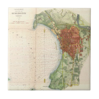 Vintage Map of Burlington Vermont (1763) Ceramic Tile