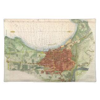 Vintage Map of Burlington Vermont (1763) Cloth Placemat