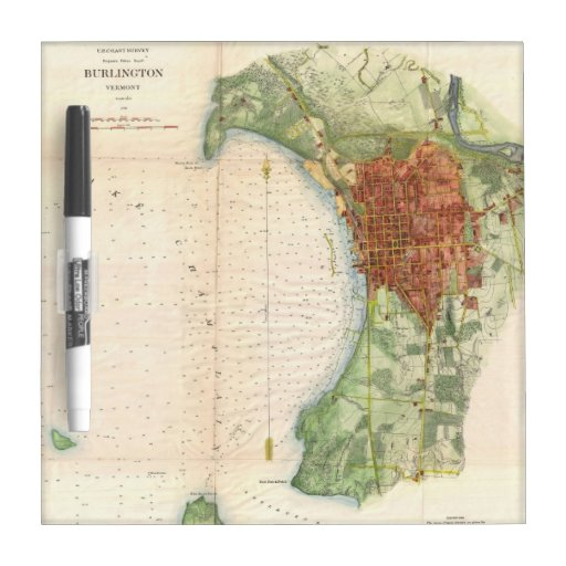Vintage Map of Burlington Vermont (1763) Dry-Erase Whiteboards